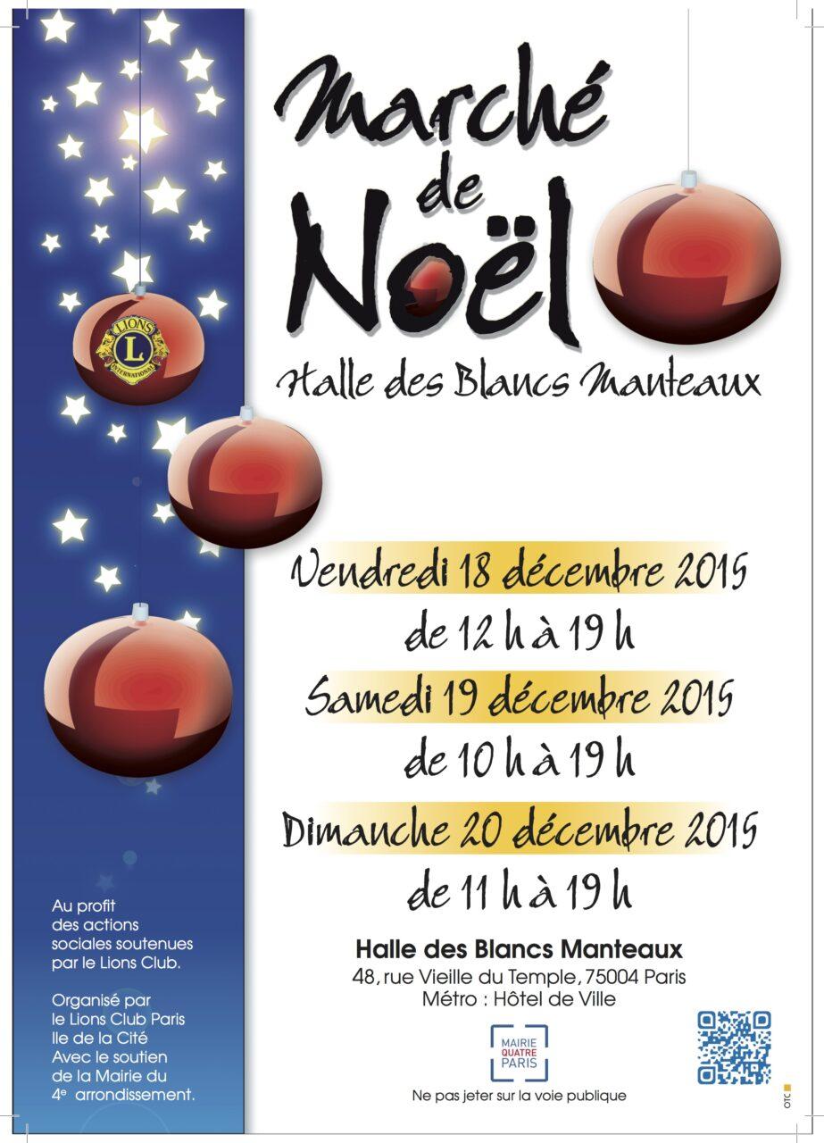 Marché de Noël 2015 Affiche